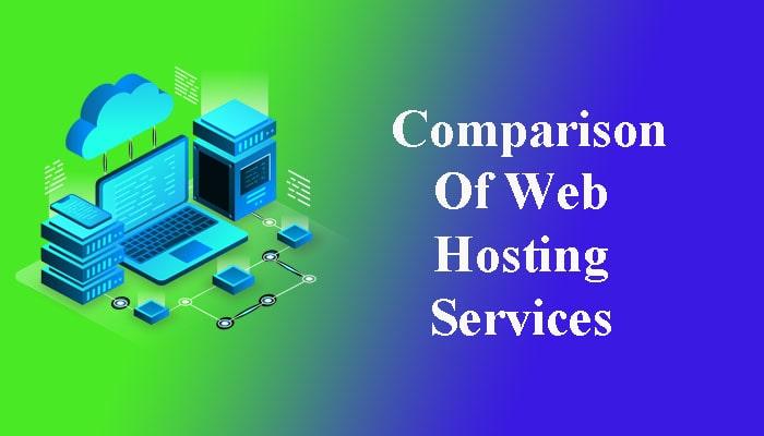 comparison of web hosting services
